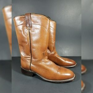 Women's Dan Post Brown Leather Boots Size 8